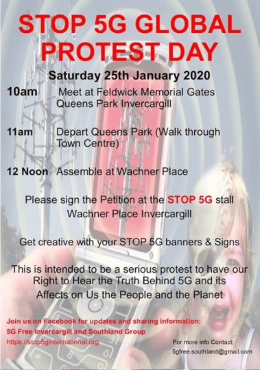 5G Global Protest 5G-Free-Invercargill-and-Southland-Group