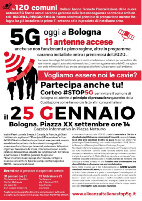 5G Global Protest www.alleanzaitalianastop5g